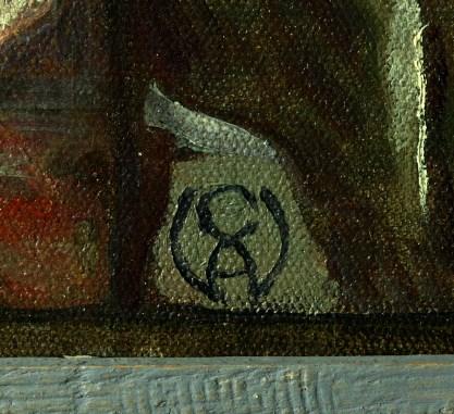 Close up of signature