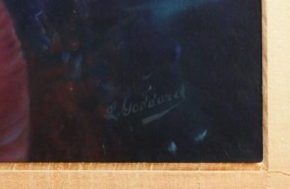 Close up of signature.