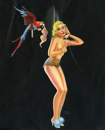 Printed version of the artwork dated 1942 by The C. Moss Calendar Co. (included in sale)