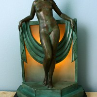 French Art Deco Boudoir Lamp