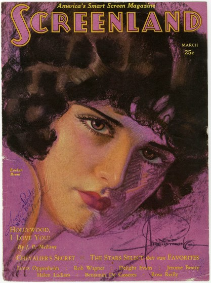 The work as it appeared March, 1930 Screenland Magazine, included in sale