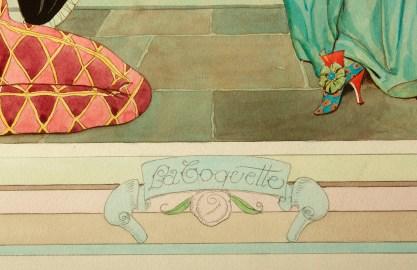 """Titled """"La Coquette"""" in artist's hand"""