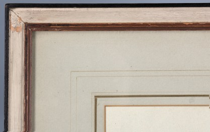 Frame profile and view of original French matting