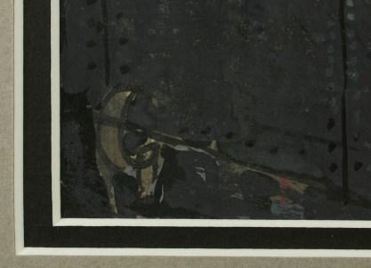 Artist's initials in lower left corner