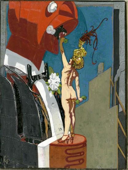 Full view of goauche painting