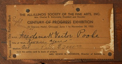Verso Exhibit Label from Chicago World's Fair