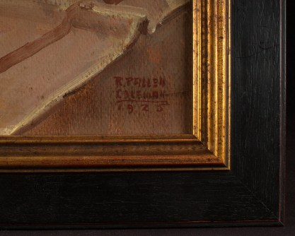 Frame profile and artist's signature and date of 1925 lower right