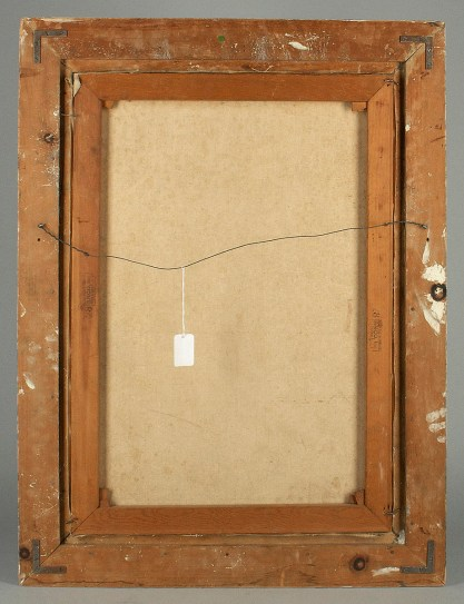 Verso of untouched back canvas with pine stretcher bars