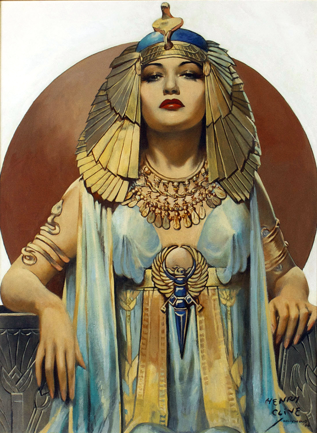 cleopatra Full view of oil painting