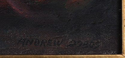 Artist's signature lower right