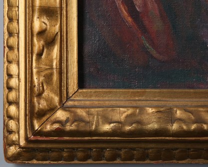 Detail of arts &; crafts gesso frame
