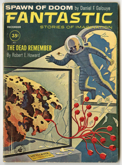 The artwork as it appeared as the cover for Fantastic - December 1961