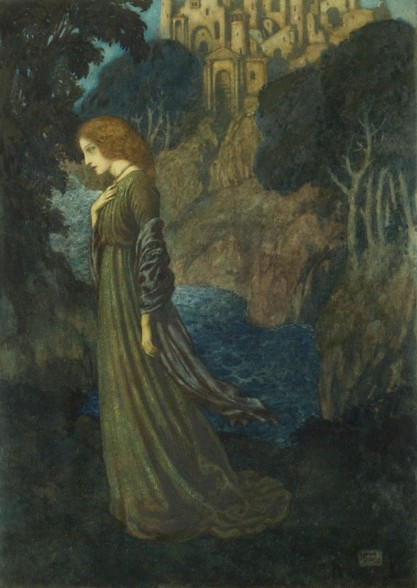Full view of signed and dated 1912 painting