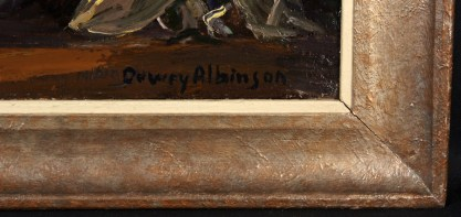 The artists signature lower right and frame profile