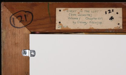 Verso Gallery Exhibit label and title in artist's hand