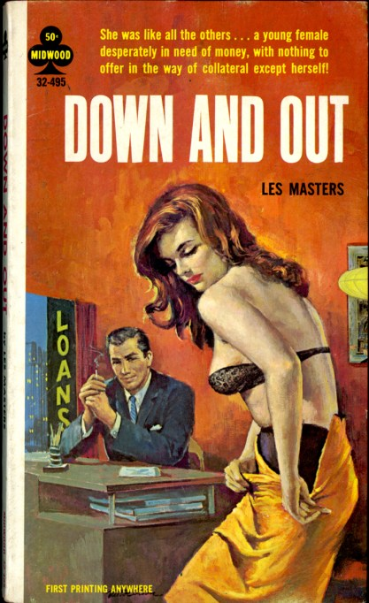 Painting as it appeared as the cover for Down And Out