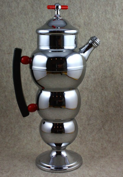 An iconic Prohibition-era chromium cocktail shaker from Faberware