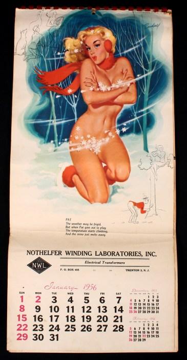 Published January 1956 calendar page