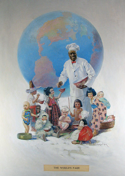 An Edward Brewer Painting from his Iconic Cream Of Wheat Advertising Campaign.