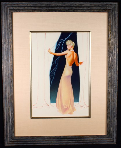 Beautifully framed and silk matted behind glass