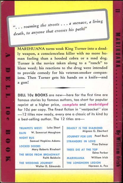 Back cover,  with additional story text