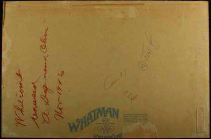 Verso notations on Whitman Illustration Board
