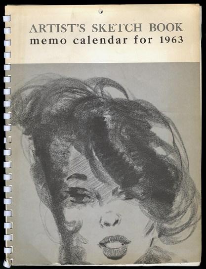 Artist's Sketch Book memo calendar for 1963
