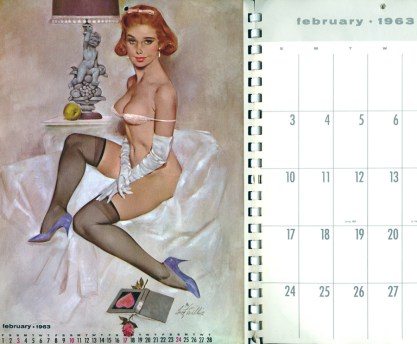 The image as it appeared as the February 1963 calendar page