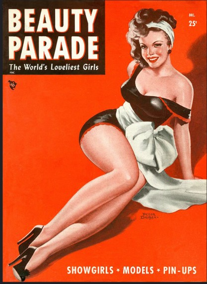 The painting as it appeared as the cover for Beauty Parade, December, 1948 (included in sale)