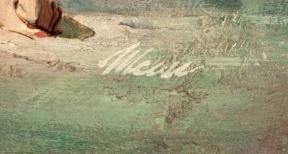 The artists signature lower right