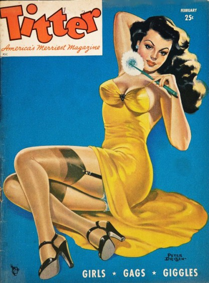 The image as it appeared as the Cover for Titter, February, 1946
