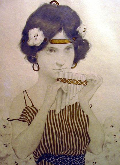Art Nouveau Kirchner Girl