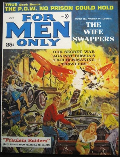 The artwork as it appeared as the cover For Men Only Magazine - October,1963 ( included in sale)