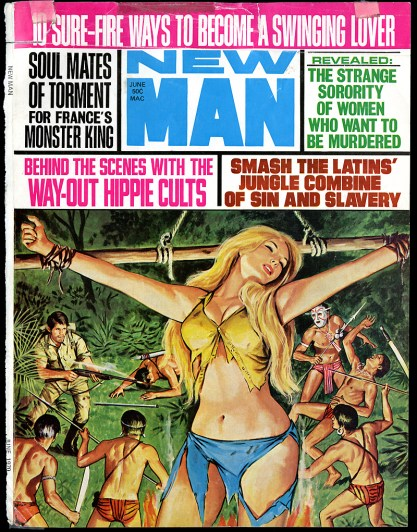 The artwork as it appeared as the cover for New Man - June, 1970 (included in sale)