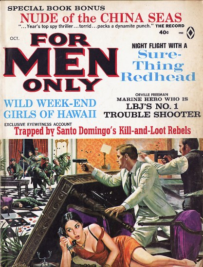 For Men Only, August, 1965 (included in sale)