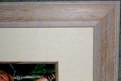 Frame profile and corner detail view