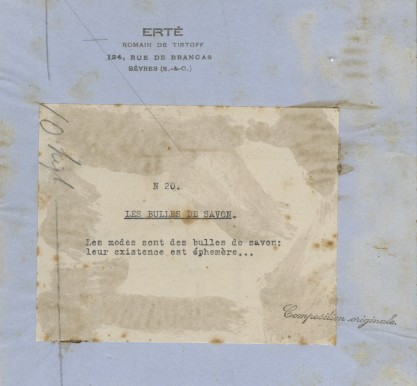 Verso notations and stamp detail