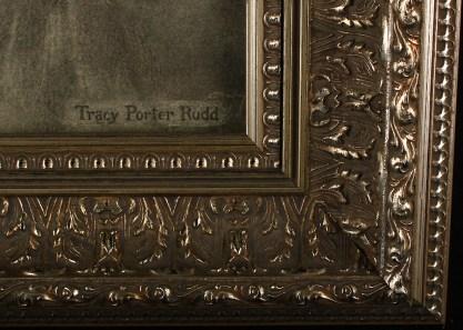Artist's signature and frame profile