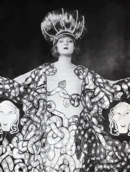 Mary Nolan in serpent costume by Erté