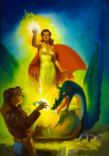 Full view of pulp cover painting