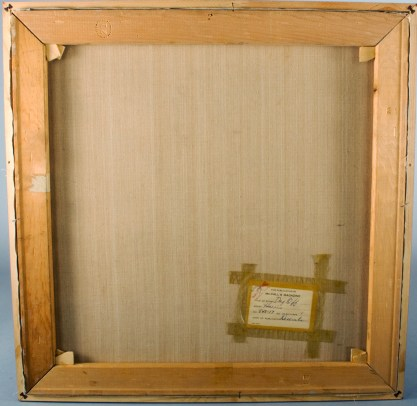 Verso view of untouched canvas on original stretcher bars
