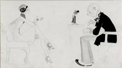 Full view of pen & ink illustration