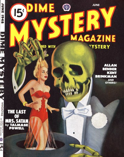 The illustration as it appeared as the cover of Dime Mystery Magazine - June, 1948