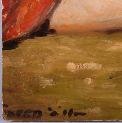 The artist's signature lower left