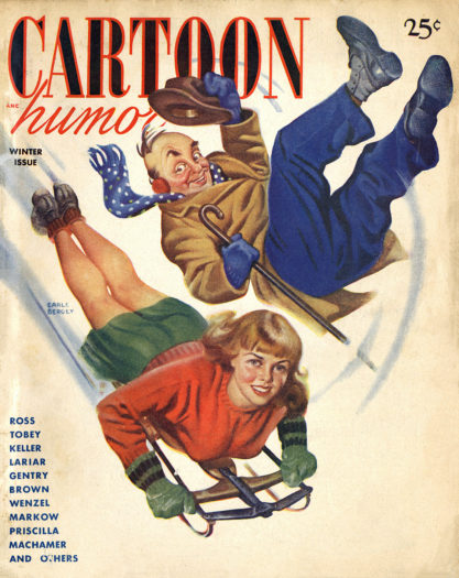 The artwork as it appeared as the cover of Cartoon Humor - 1948. (Included in sale)