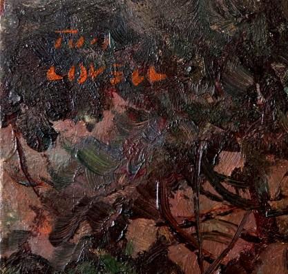 The artist's signature upper left