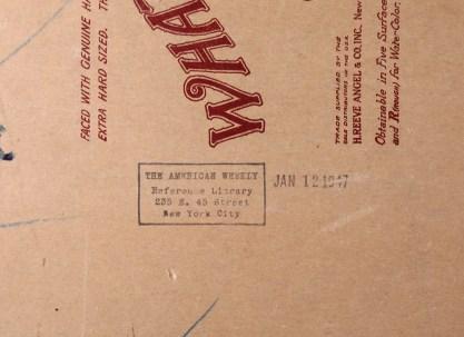 American weekly verso stamp