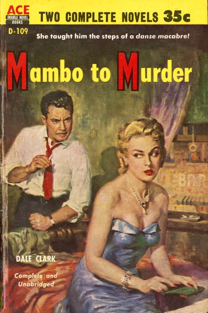 The artwork as cover of Mambo To Murder (included in sale)
