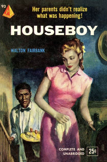 The artwork as the cover of Pyramid Book - Houseboy (included in sale)