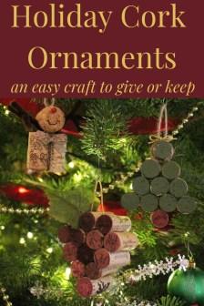 Holiday Cork Ornaments